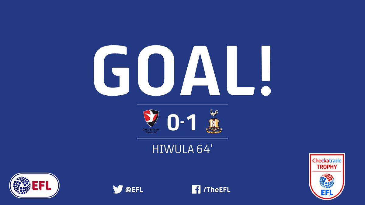 GOAL!  Jordy Hiwula opens the scoring and gives @officialbantams the l...