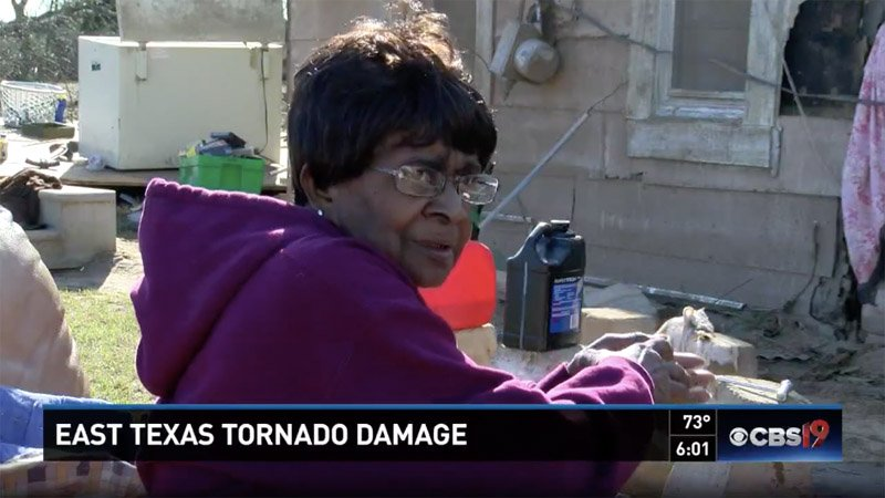 75-year-old Texas woman flies through tornado in bathtub, lands in woods unharmed https://t.co/T02H4TIttX
