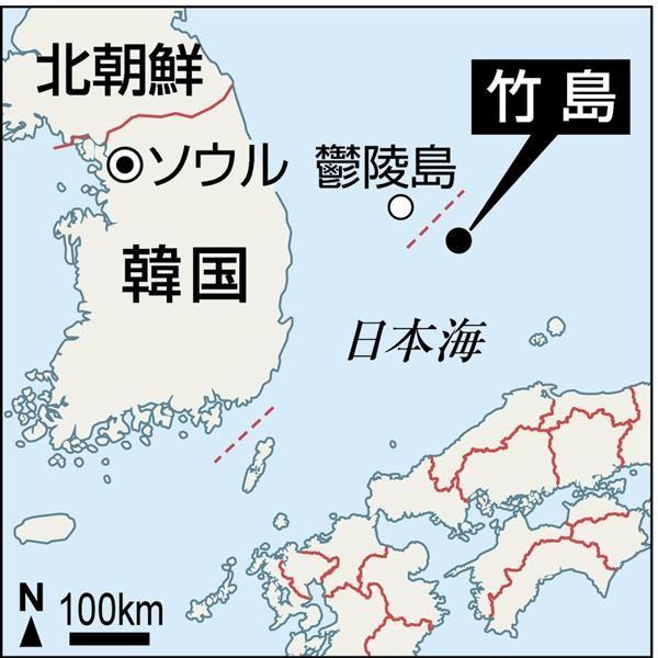 韓国知事が竹島上陸 国歌斉唱し警備隊員と昼食 「警戒態勢を確認し、隊員激励する」 sankei.co…