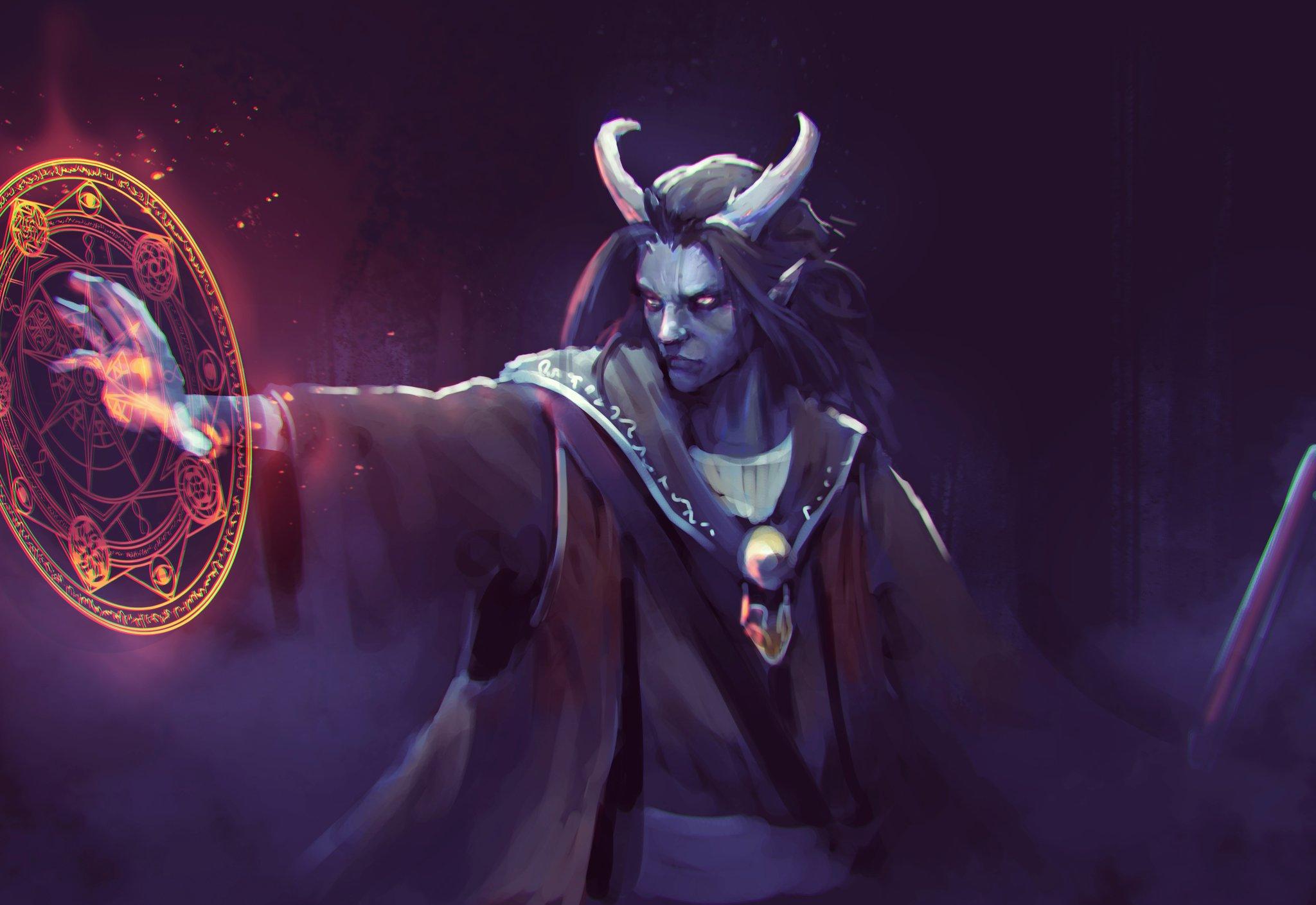 "Warlocks Dragons: Jeff Chen On Twitter: ""Day 25 My Friends D&d Warlock! I'm"