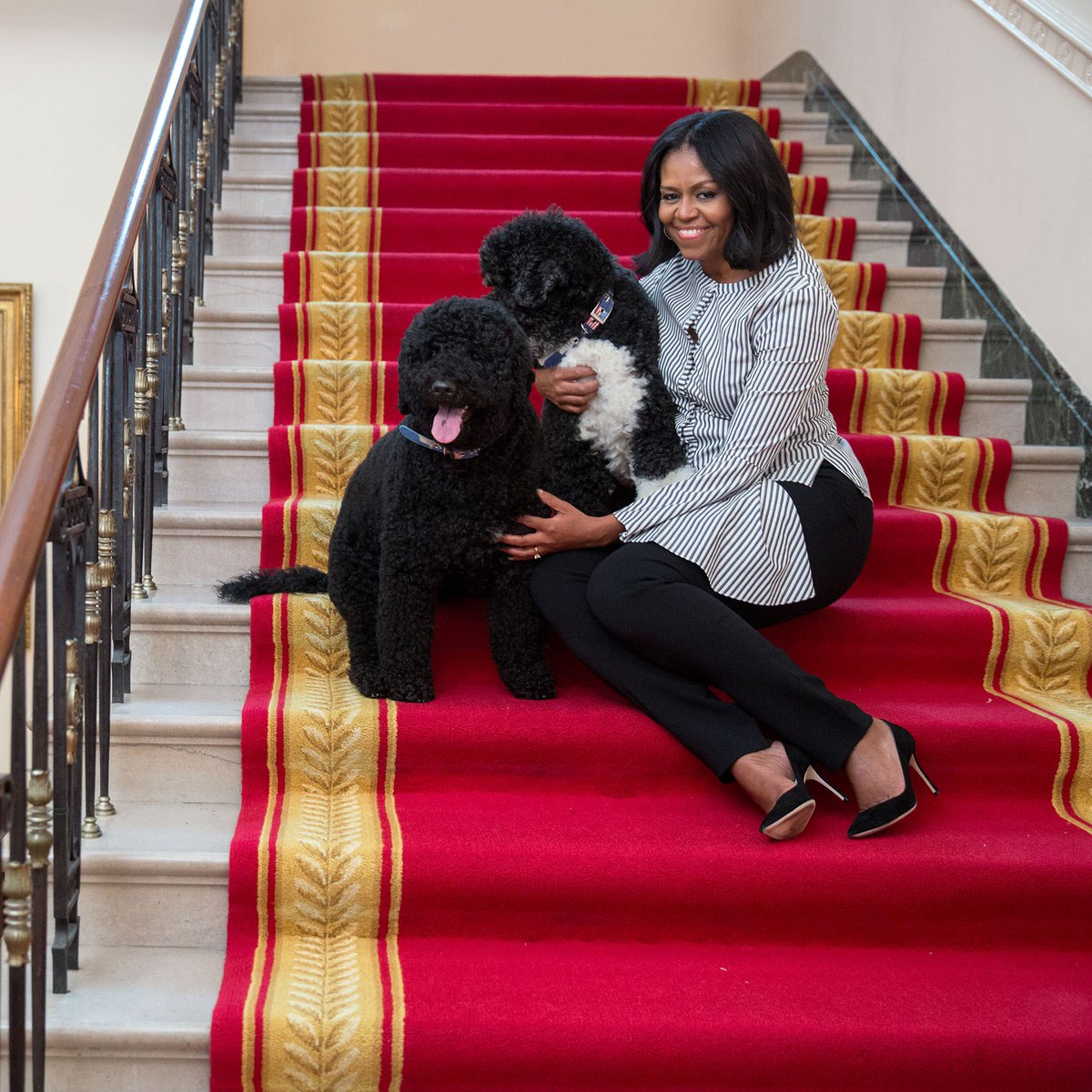 Thank you for the birthday wishes and for the greatest gift of all: the opportunity to serve as your First Lady. –mo