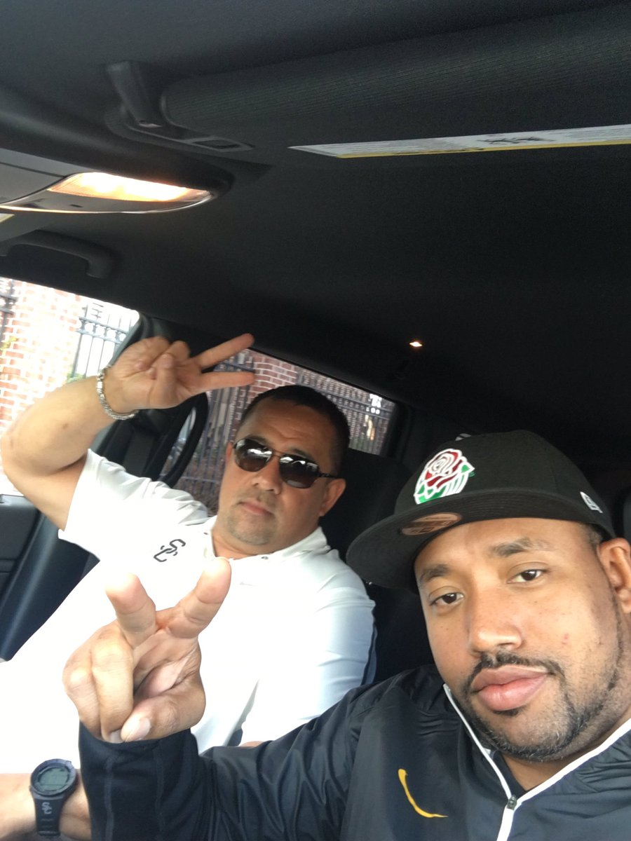Me and @CoachJNansenUSC on the road #Nationalchampionship coming soon....