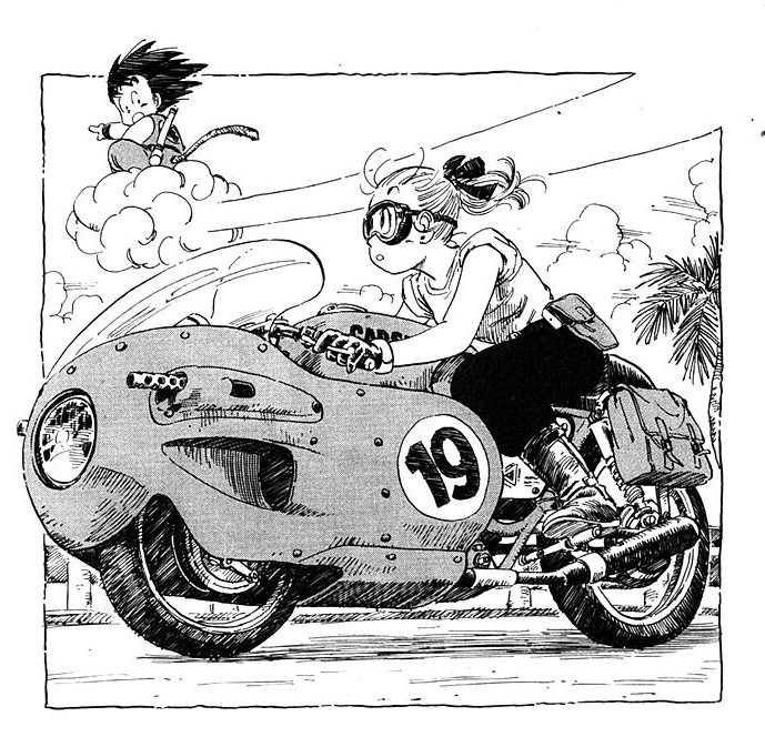 Nate Of The Living Dead On Twitter Akira Toriyama Drawing Motorcycles Is One Of My Favorite Things About Dragon Ball