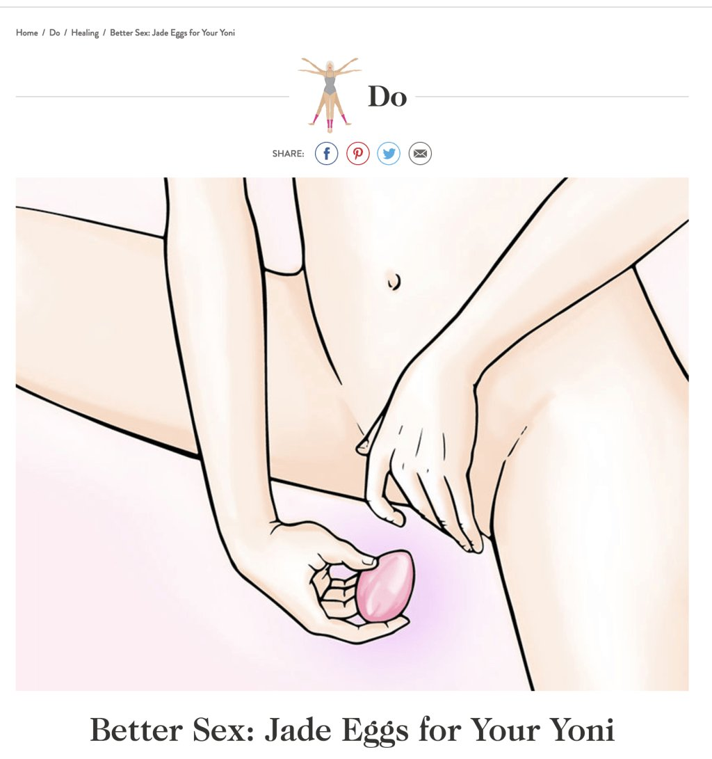 Dear Gwyneth Paltrow, I'm a GYN and your vaginal jade eggs are a bad idea https://t.co/f74EEI8HBh https://t.co/edbGY2qVID