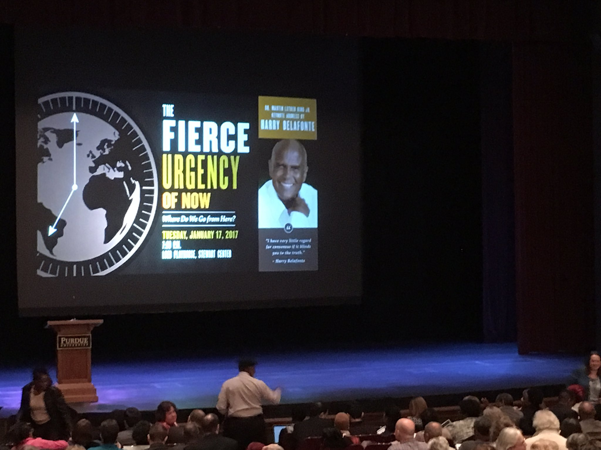 It's getting crowded at the @harrybelafonte talk at @LifeAtPurdue https://t.co/eo50mhqw6s