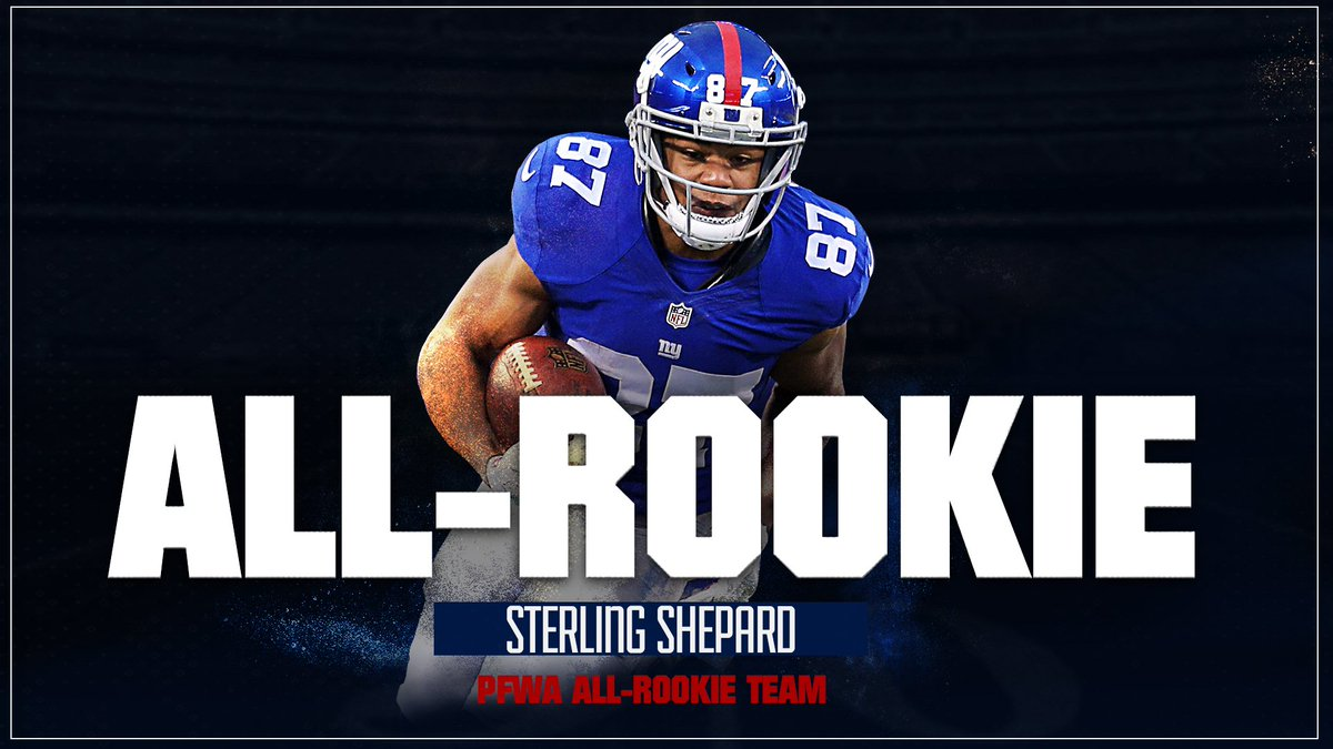 Congrats to @sterl_shep3 on making the @PFWAwriters All-Rookie Team! #GiantsPride   DETAILS:  http:// bit.ly/2jHsQEu  &nbsp;  <br>http://pic.twitter.com/EYPMQ2MtRk