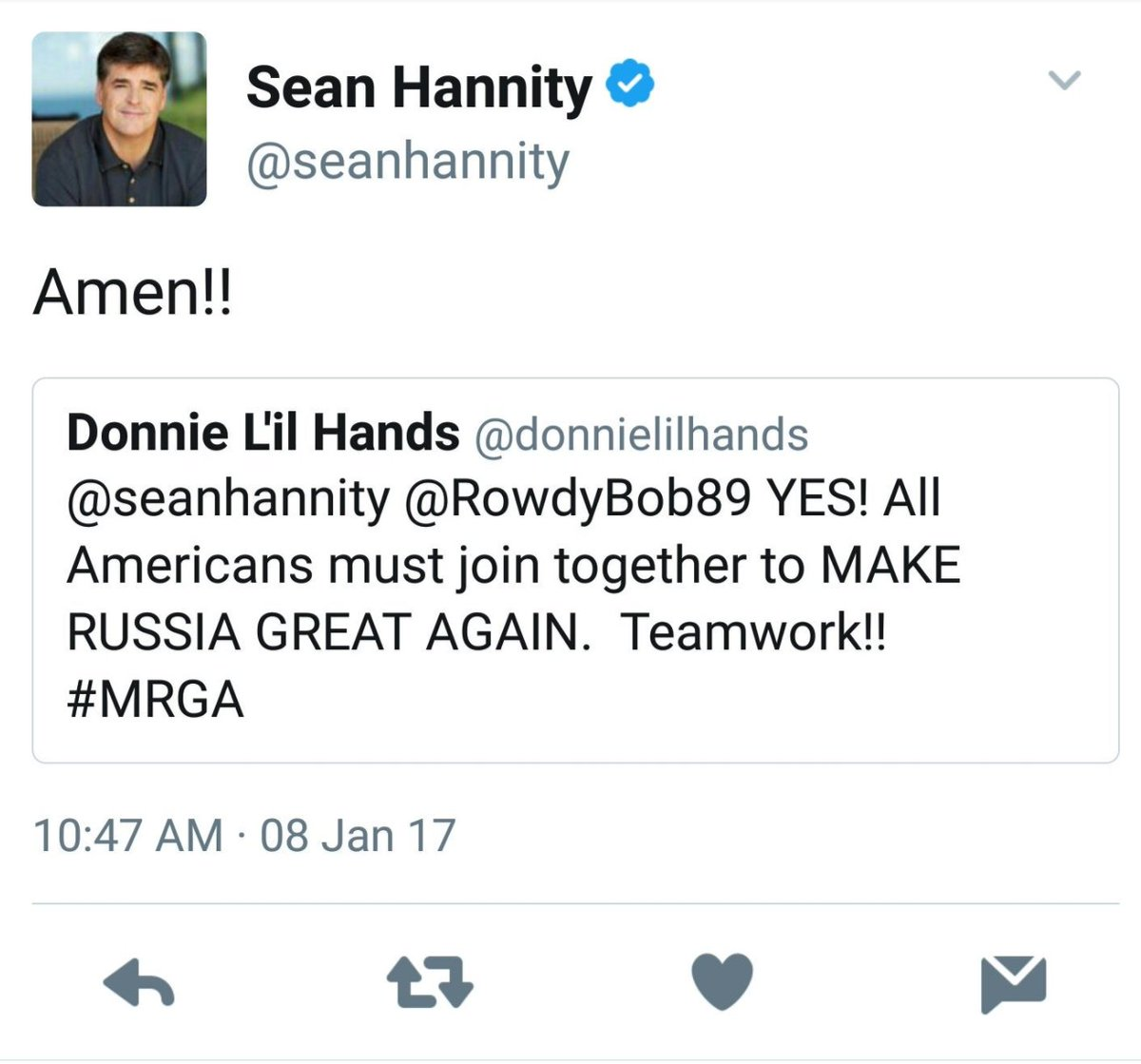 .@ananavarro always screenshot. People delete their assholery on Twitter all the time. Ask @seanhannity. https://t.co/byimqCOyBm
