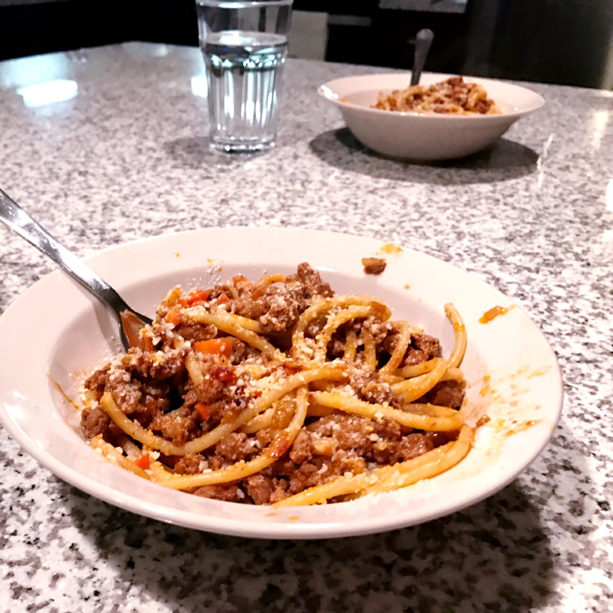 Blue apron bucatini - Eliora Bruschweiler On Twitter Bucatini Pasta Bolognese With Brussels Sprouts Blueapron Https T Co U9xqccipos