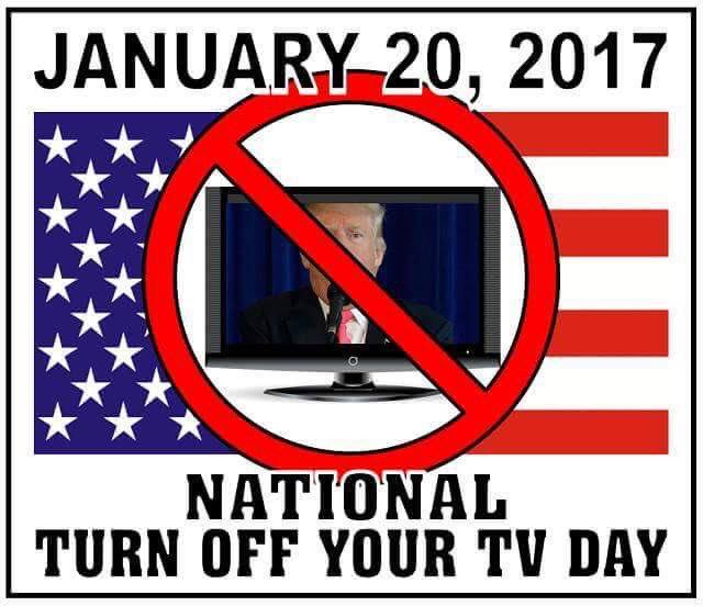 #InsteadOfWatchingUnauguration I will have all my TVs on channels not airing any news and reading a good book! #NotMyPresident #DemForce<br>http://pic.twitter.com/RJwLkrcXUJ