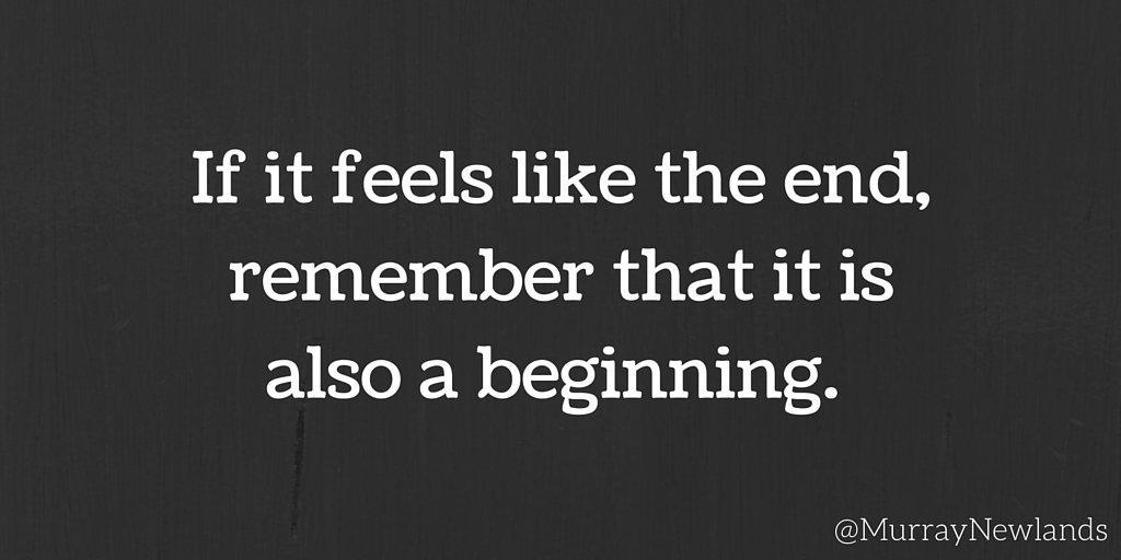 If it feels like an end, remember that it is also a beginning. #TuesdayMotivation #Motivation #Inspiration #Beginnings <br>http://pic.twitter.com/yNNg14hCda