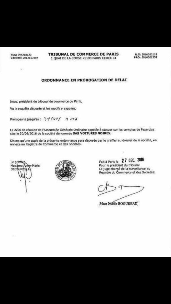 #BREAKING : A peine récompensée par @ssoumier la sté @VoituresNoires se retrouve au tribunal de commerce L&#39;eco système des  VTC en faillite<br>http://pic.twitter.com/Ljn7j60HNh