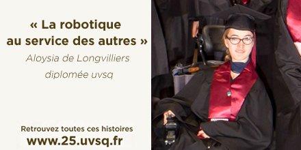 #uvsq25 Quand on rencontre Aloysia de Longvilliers, on comprend une chose... #determination #handicap #robotique  http://www. 25.uvsq.fr/la-robotique-a u-service-des-autres-372643.kjsp &nbsp; … <br>http://pic.twitter.com/21fNWt2DgW
