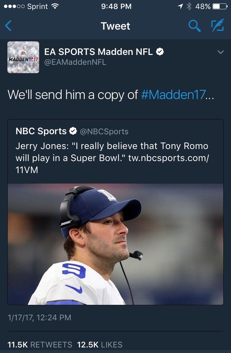 Savage... Just, savage. #Cowboys #Madden17<br>http://pic.twitter.com/foDxqC7p9M