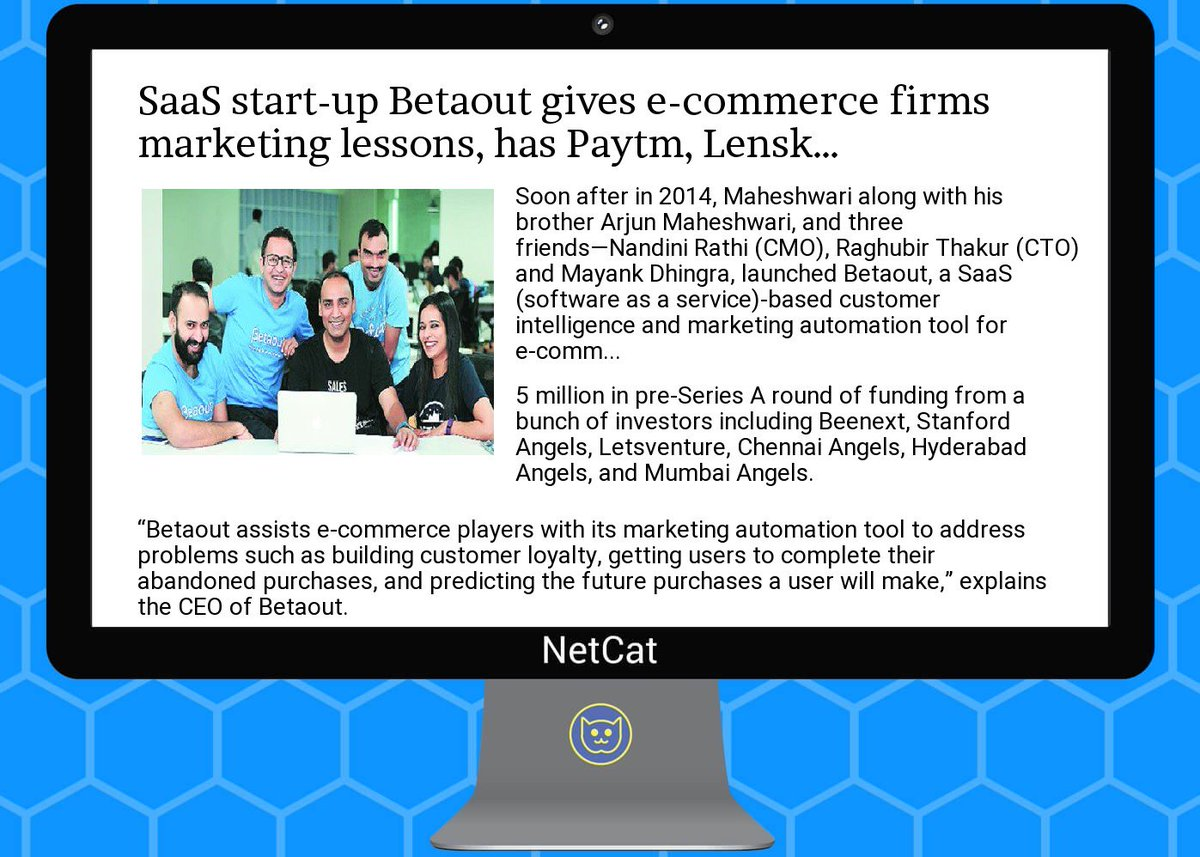 #startup #summary:  #saas  #start-up  #betaout gives  #e-commerce  #firms  #marketing lessons, has  #paytm,  #len<br>http://pic.twitter.com/Ja1sFOViZe