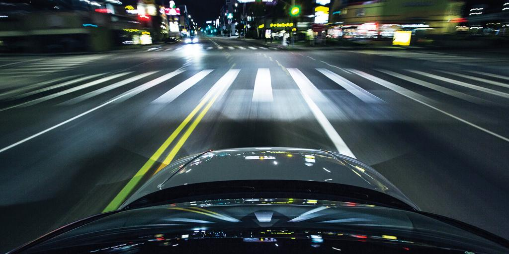 Early birds get the worm, but night owls own the road. 5:15AM: Sunset Blvd., Los Angeles. #AudiNightDrives #AudiS3