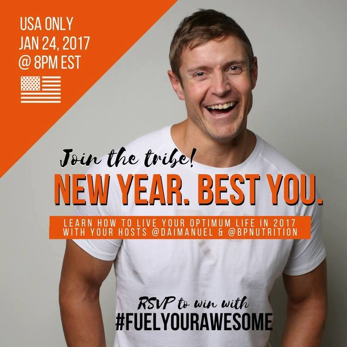 Join us Tue 1/24 8P EST for a #twitterparty that will #FuelYourAwesome with @bpnutrition ://