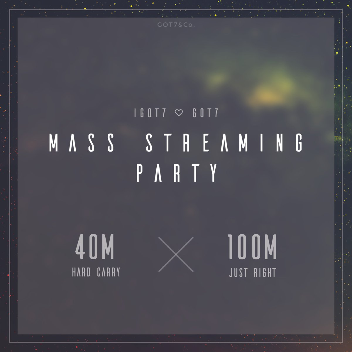 [#TeamGOT7] YouTube Mass Streaming Party Let&#39;s get Hard Carry to 40 million views &amp; Just Right to 100 million views!  https://www. youtube.com/playlist?list= PLS_u2pVuQWg-CKQMMBKAV5LHRcGlN5Zgf &nbsp; … <br>http://pic.twitter.com/LZjygUcS6E