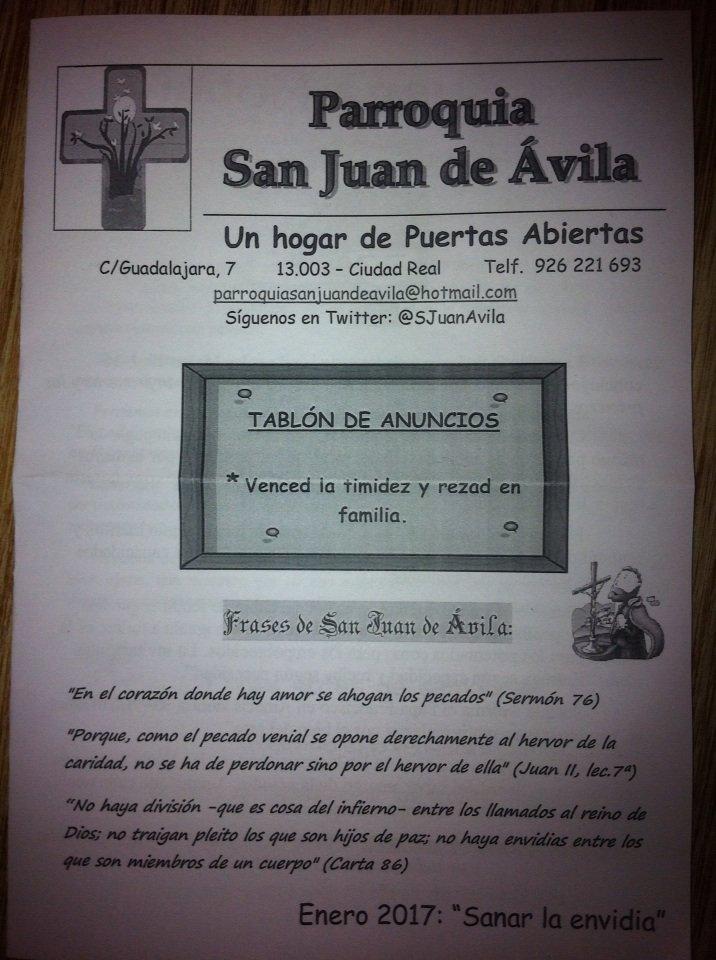 San Juan De ávila On Twitter Sanar La Envidia Nuevo