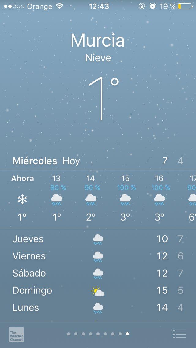 Hacía 33 años que no nevaba en Murcia así que imaginad la alegría que...
