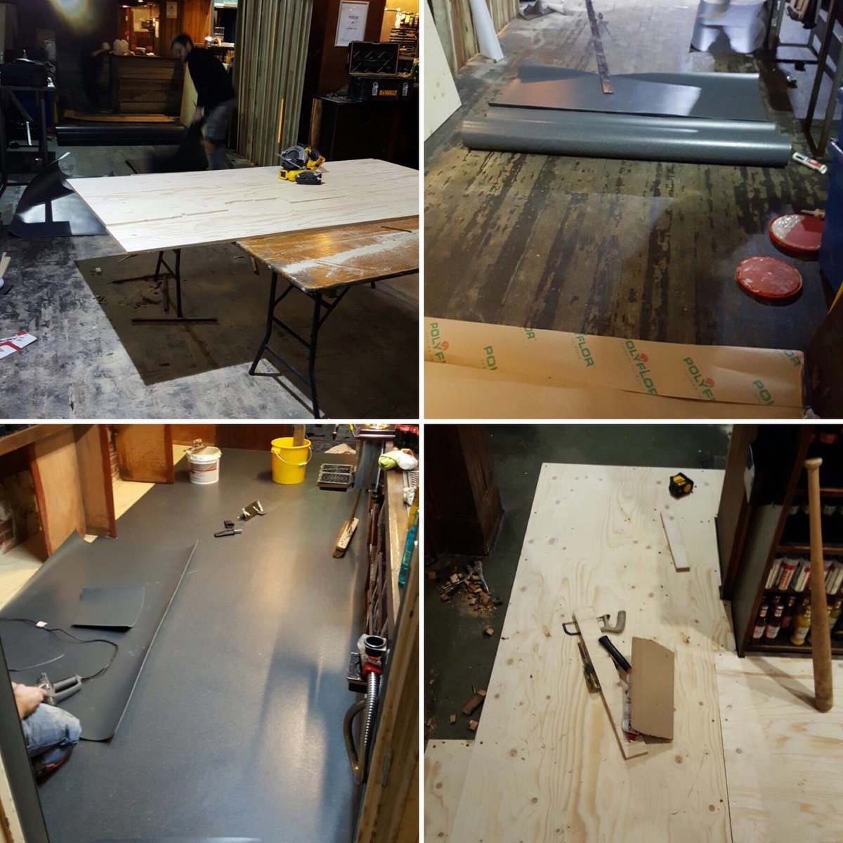 """the castle & falcon on twitter: """"new flooring going in! #moseley"""