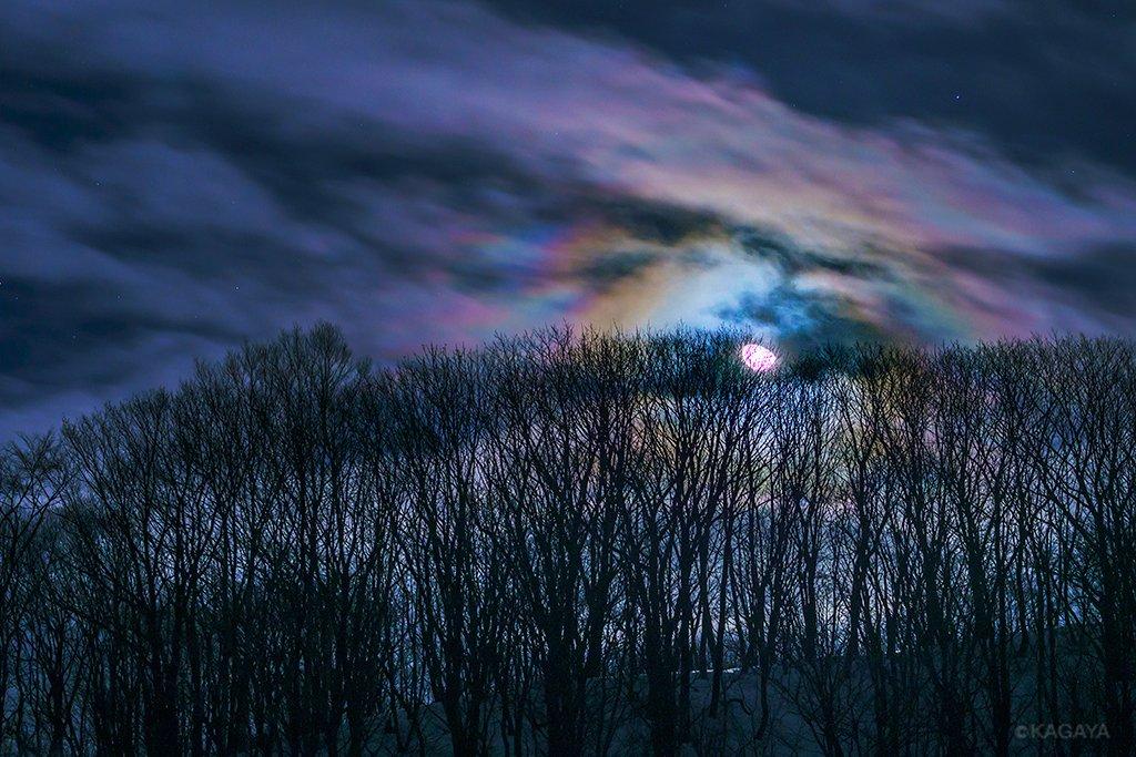 月光でできた彩雲。 (昨夜北海道にて撮影)