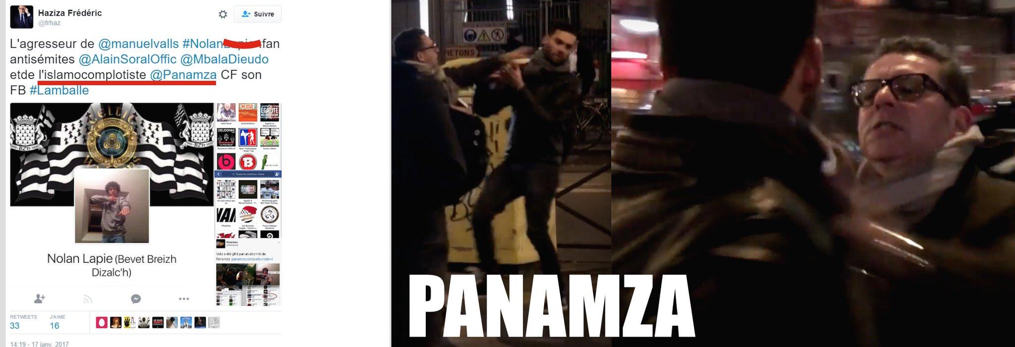 Panamza, un site «islamocomplotiste» selon Frédéric Haziza, agresseur judéo-sioniste