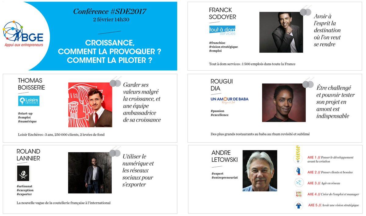 Profitez de l&#39;expérience d&#39;#entrepreneurs pour tout savoir sur votre #croissance au #SDE2017 ! inscription gratuite  http:// bit.ly/2jHEnHc  &nbsp;  <br>http://pic.twitter.com/ROz500hDBw