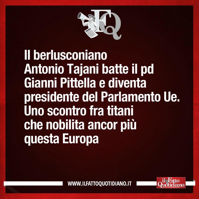 LA FRASE DEL FQ DI OGGI #Tajani #Pittella #parlamentoeuropeo #FattoQuotidiano #18gennaio https://t.co/Zg7CjPLPQP