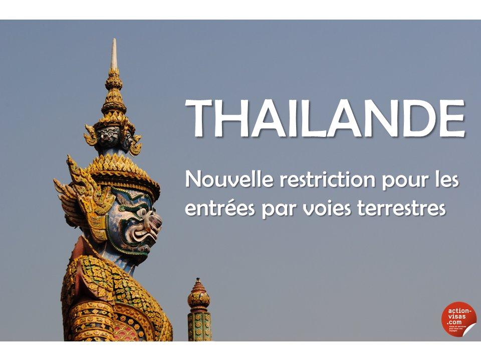 #THAILANDE  Nouvelle restriction pour les entrées par voies terrestres  https://www. facebook.com/notes/action-v isas/thailande-nouvelle-restriction-pour-les-entr%C3%A9es-par-voies-terrestres/1267820823256369 &nbsp; …  #visa #tourisme #voyage<br>http://pic.twitter.com/qfdbOfh6Vu