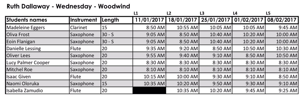 #woodwind #lesson #Wednesday Don&#39;t forget your instrument &amp; practice book. Arrive 5 mins early. @SRASecondary<br>http://pic.twitter.com/lAzdGBhGQF