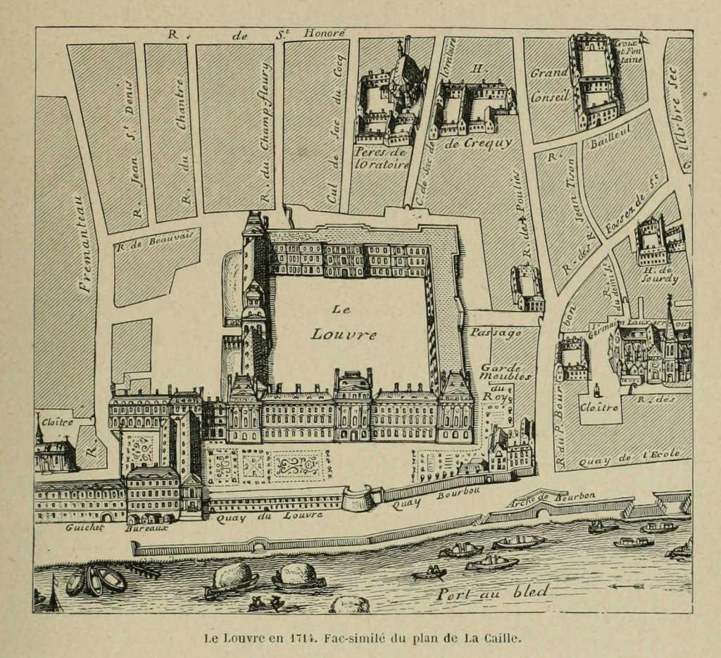 Re d couvrez paris on twitter le louvre en 1714 juste un beau ch t - Date construction du louvre ...