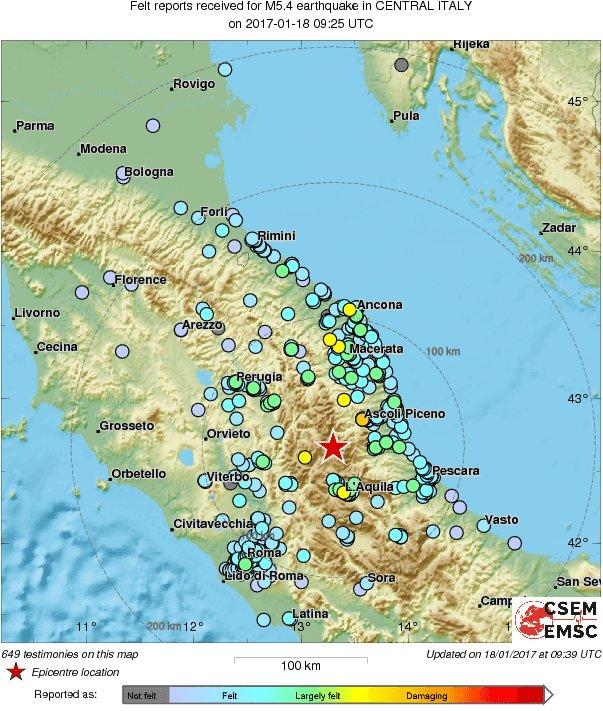 severeweatherEU on Twitter Magnitude 54 earthquake hit central
