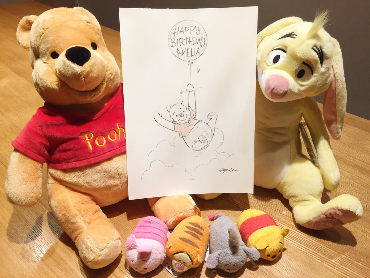 Thank you @Disney_UK for this lovely present for Amelia! Happy #Winnie...