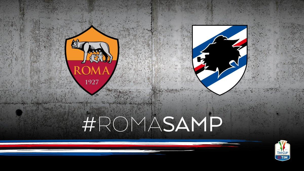 Vedere ROMA SAMPDORIA Diretta Streaming Gratis: info Video Rojadirecta TV Rai Play Online (Coppa Italia)