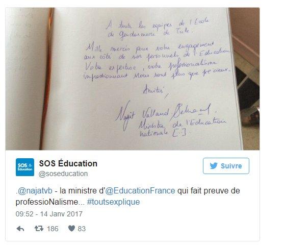 Zéro en #orthographe pour la ministre de l'#Éducation @najatvb ! #TVL |  https://www. tvlibertes.com/2017/01/17/135 33/zero-orthographe-ministre-de-leducation &nbsp; … <br>http://pic.twitter.com/zTBe1X88T3