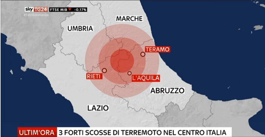 #UltimOra #Terremoto, tre forti scosse al #CentroItalia #Canale50 http...