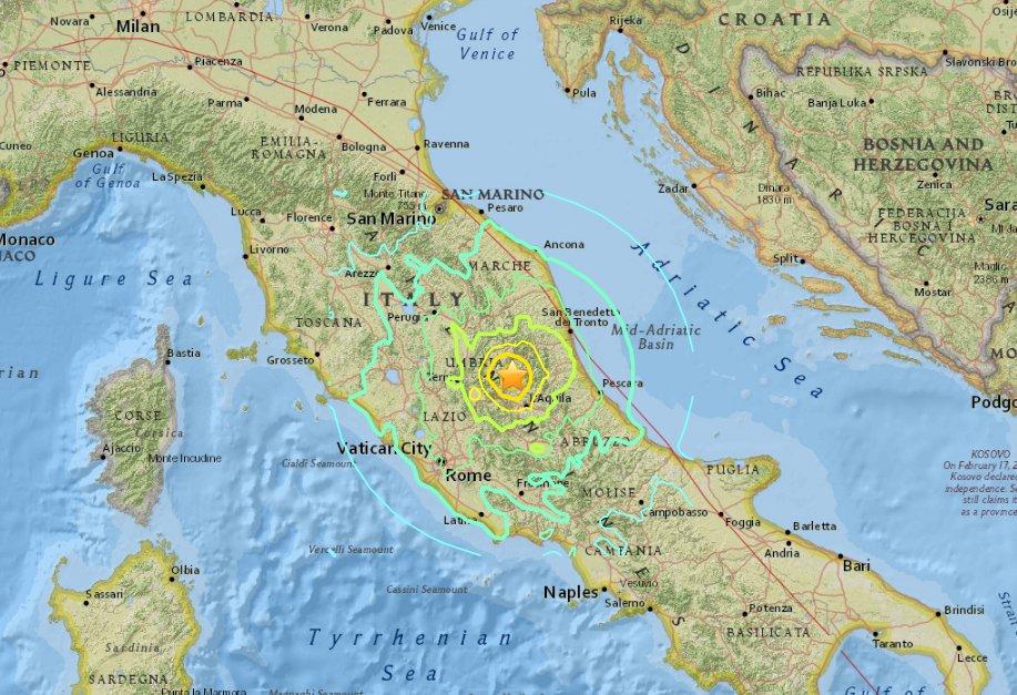 Terremoti Oggi Centro Italia: aggiornamento con dati impressionanti