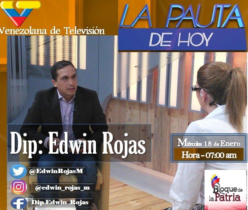 AHORA | Diputado @EdwinRojasM en entrevista por @LaPautaVTV https://t....