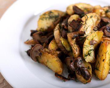 Little Potatoes and Mushrooms