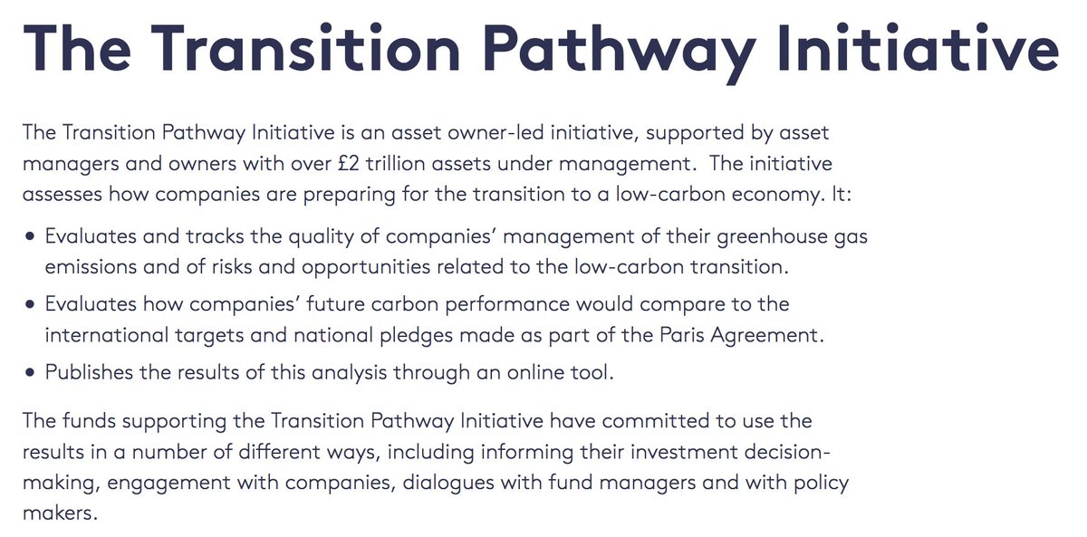#ClimateChange: 13 #investisseurs lancent 1 nouvelle #initiative d'#évaluation #lowcarbone des #entreprises !  http:// bit.ly/2jKKFCF  &nbsp;   #TPI<br>http://pic.twitter.com/s3849Srdlo