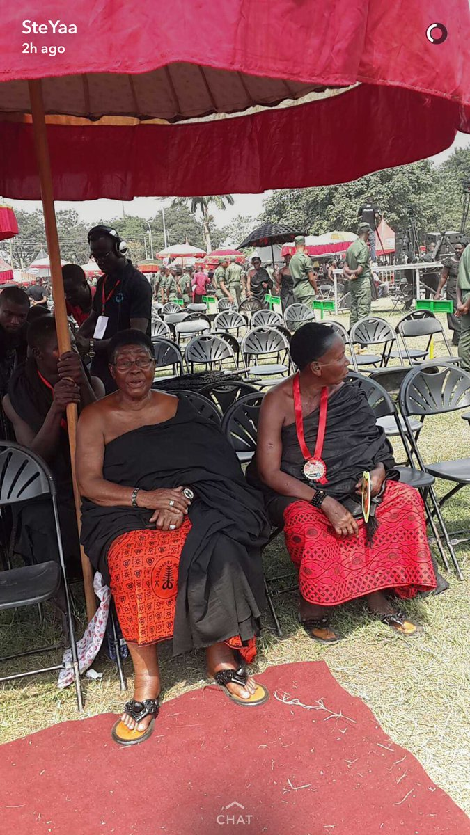 My beautiful grandma Nana Akosua Takyiaw, Aboreehemaa attending the funeral. #Royalty