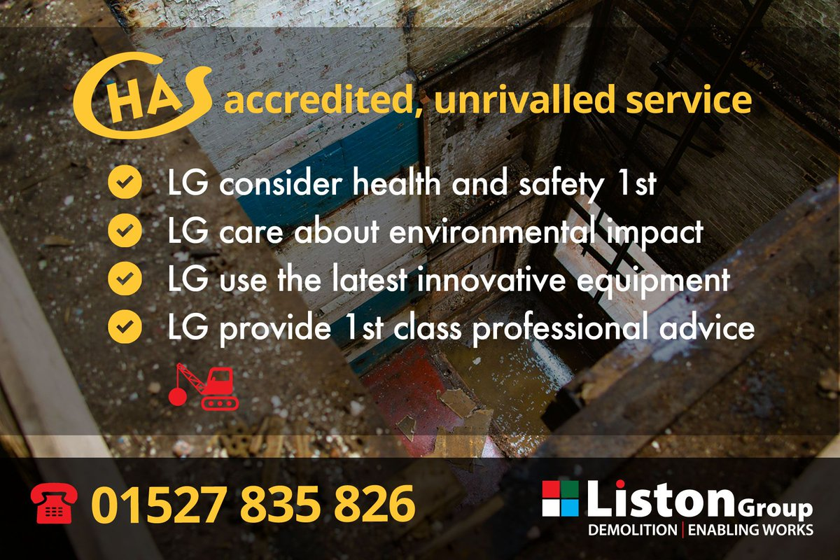 Your caring ... CHAS accredited technical demolition partner  http:// j.mp/2jPhEVt  &nbsp;    #technicaldemolition #chas #demolition #construction<br>http://pic.twitter.com/2y5d3UgOqu
