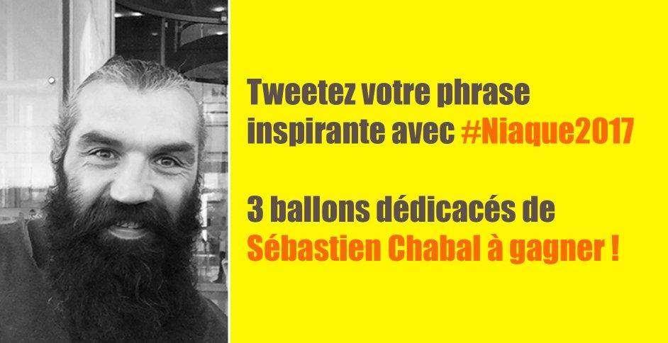 A vos marques, prêt, tweetez ! 3 ballons dédicacés par Sébastien Chaba...