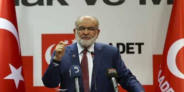 Saadet Partisi: Anayasa değişikliği teklifinin mevcut haline hayır oyu...