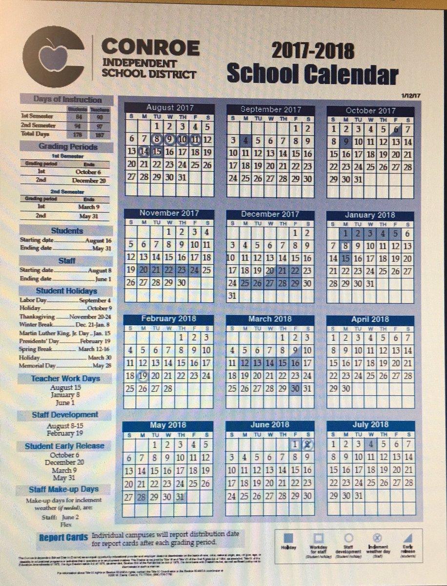 Conroe Isd Calendar 2022.Conroe Isd Calendar