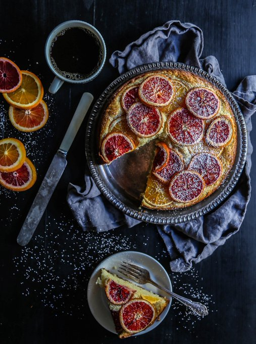 Blood Orange Ricotta Cake