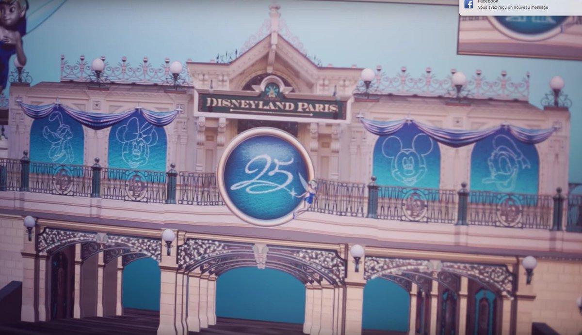 Premier aperçu des décorations qui seront installées sur Main Street Station à l&#39;occasion du 25e anniversaire de #DisneylandParis ! <br>http://pic.twitter.com/j8x9H7pGyT