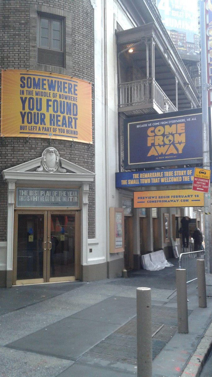 It's up it's up! @wecomefromaway #ComeFromAway #Broadway https://t.co/BP4TRbtURn