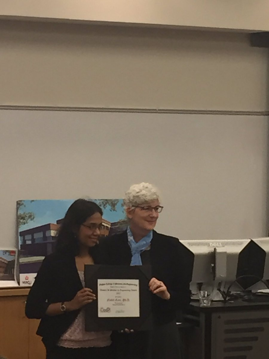 Congratulations to WKUGeo° faculty member, Nahid Gani, on her Ogden College WISE award!
