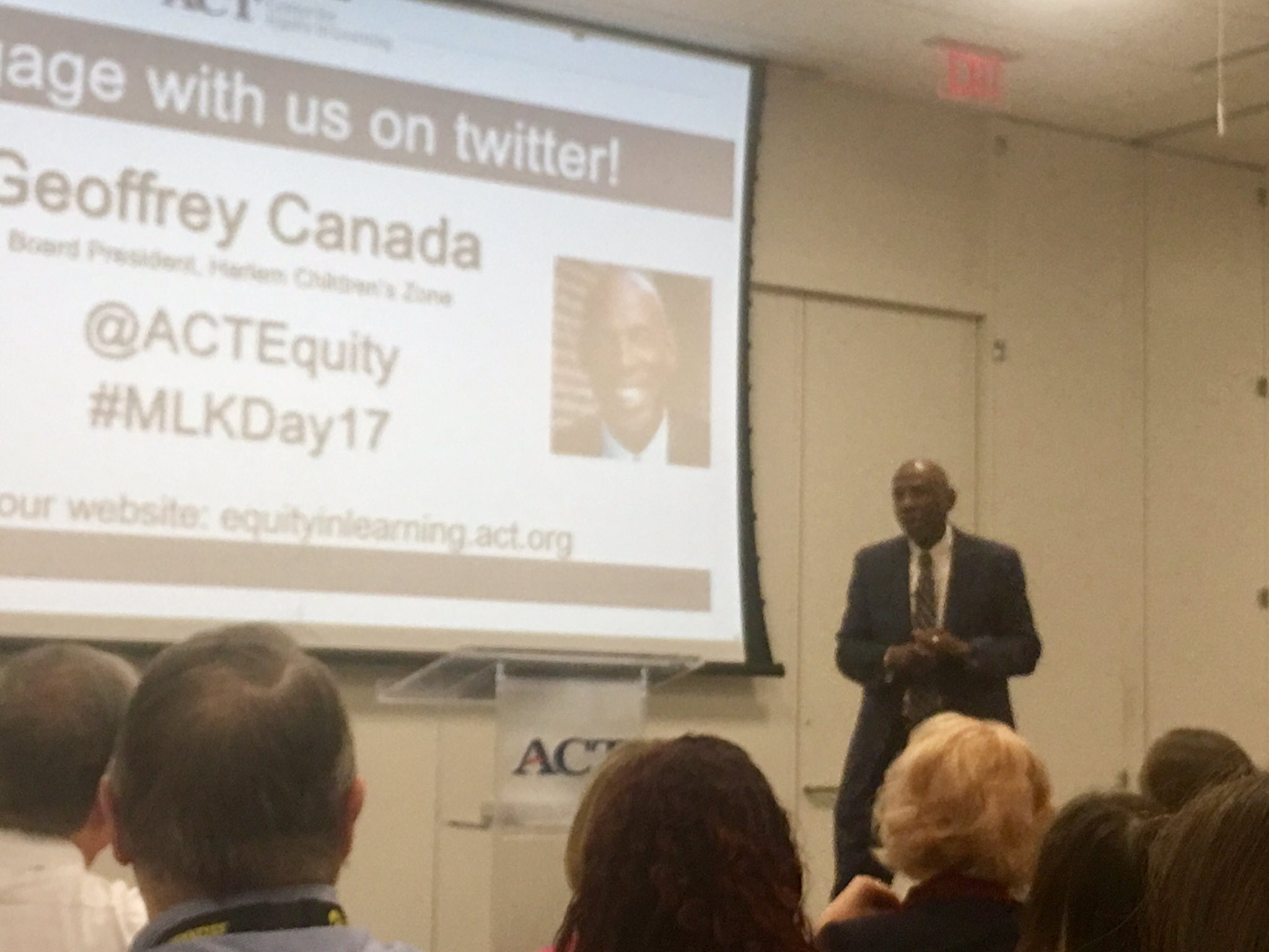 If you are a teacher and you can not do your job...change careers! Geoffrey Canada in doing what's right for students @ACTEquity @ACT https://t.co/flDOSiOlRw